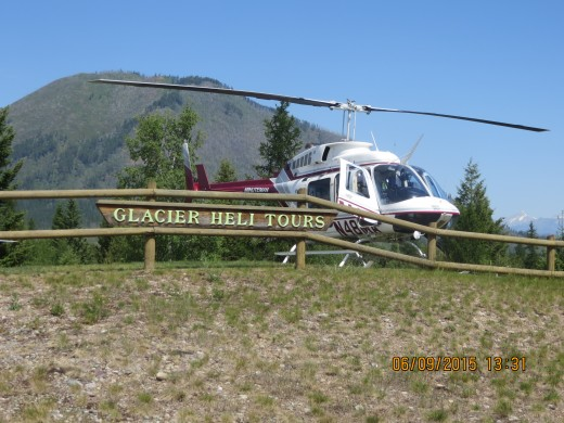 A -THE ENTRANCE TO GLACIER HELI TOUR