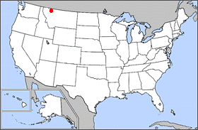 Locator map for Blackfeet Indian Reservation