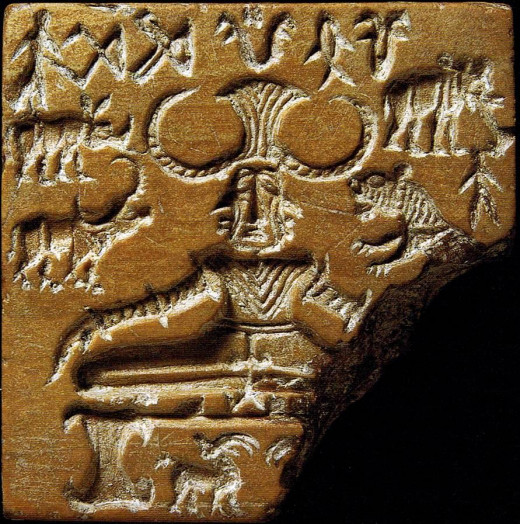 Artifact of the Indus Valley Civilization. it is believed to be among the oldest civilizations in the world. The artifact depicts a meditating king with two horns surrounded by animals from various continents. Could he be Dhul-Qarnayn?