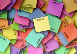 Post it notes and rote learning combination - A good lasting method to using colorful post it notes as a memorization tool with rote learning.