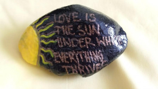 "Make A Statement: ""Love Is The Sun Under Which Everything Thrives"""