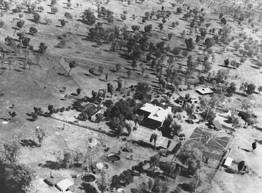 Aerial photograph of Ularunda Station, ca. 1933