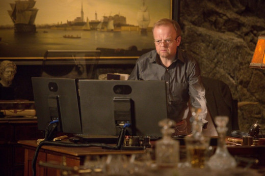David Pilcher watches the chaos from his computer