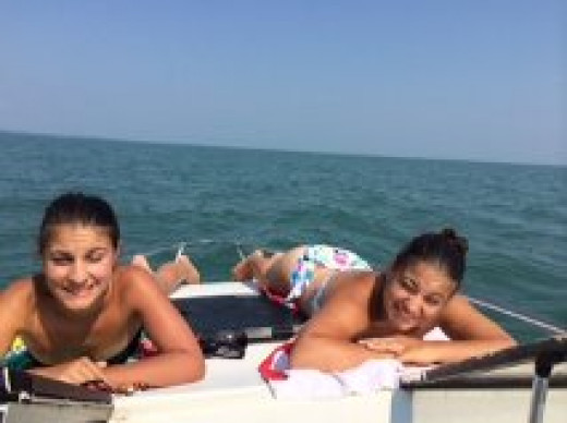 Boating and Tanning is  one of the best things to do in the summer