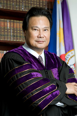 The impeached Supreme Court Chief Justice of the Philippines, Renato Corona.