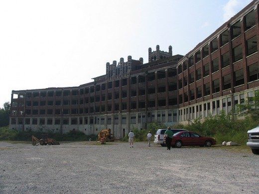 The back of the Waverly Hills Sanitorium building...do you see a ghost in the window?