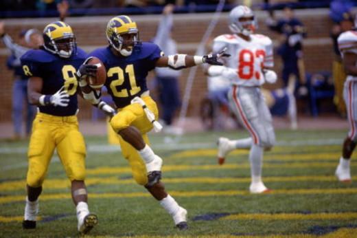 Desmond Howard won the Heisman Trophy for Michigan in 1991.