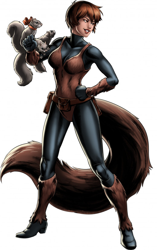 """The name's Squirrel Girl!And I don't accept meanies in my park! Now get out!"""
