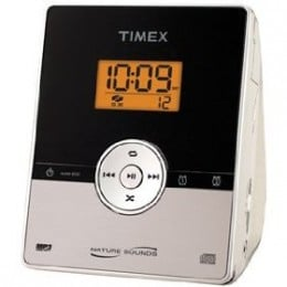 Timex MP3 Stereo CD Dual Alarm Clock Radio with Digital Tuning - Silver (T612S)