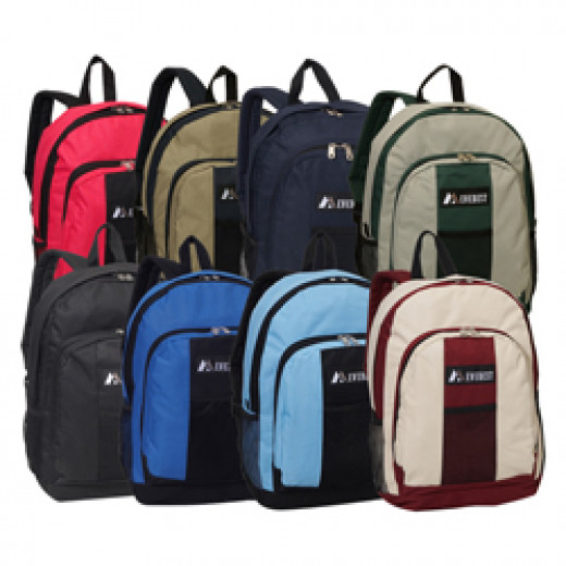 Group of backpacks.