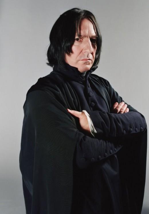 Severus Snape, played by Alan Rickman