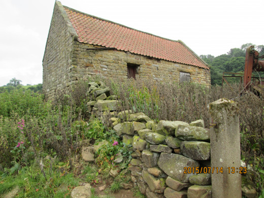 The barn in detail, accessed by an open field gate - can't resist  an open gate, it's like an invitation to snoop around!