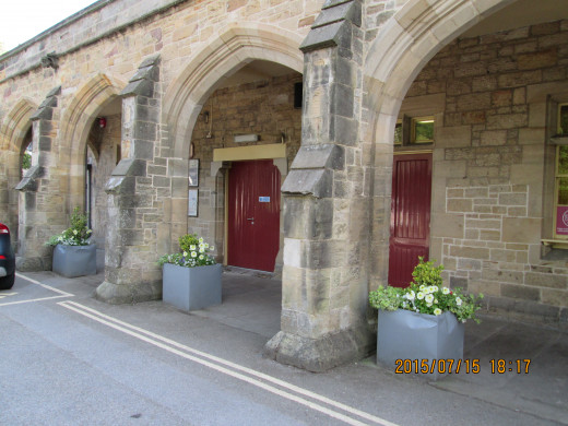 These colonnades sheltered passengers awaiting their carriages when the station opened in the mid-19th Century by the Great North of England Railway - later absorbed by the York, Newcastle & Berwick Railway and in the 1850's the North Eastern Railway