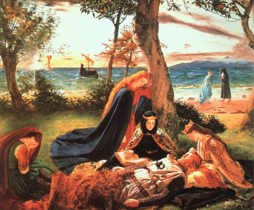 The Death of Arthur, a painting done by James Archer, depicts King Arthur in Avalon.