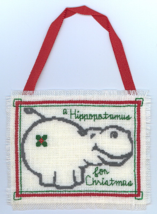 You may not have a Hippo as a pet but this is a good example of an ornament you can make.