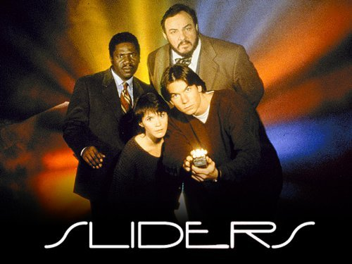 The cast of Sliders