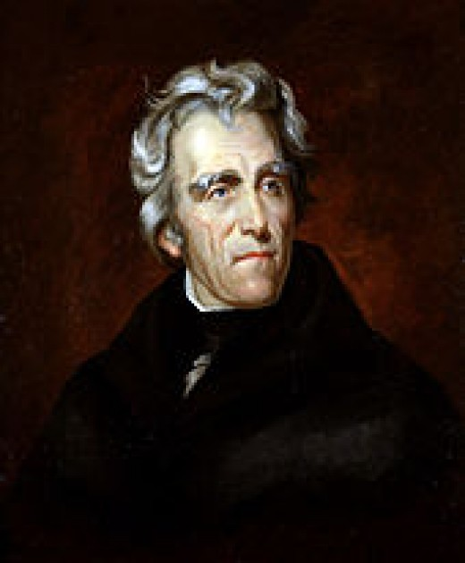 President Andrew Jackson 1767-1845 Painting by Thomas Sully, 1824