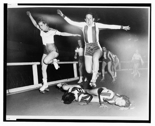 Roller Derby in the 1950s.