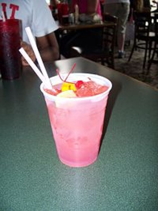 Hurricane cocktail in New Orleans