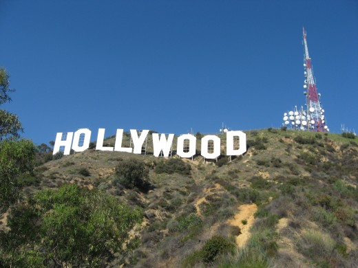 The Hollywood sign. A famous symbol of celebrity.