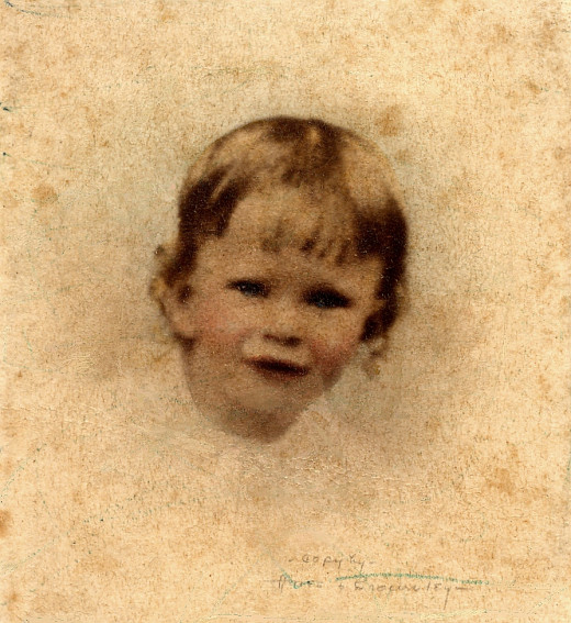 This is one of my cherished photos of my mother as a baby.