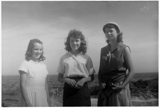 This photo was taken in 1959, when we took our first vacation as a family and went to Maine.