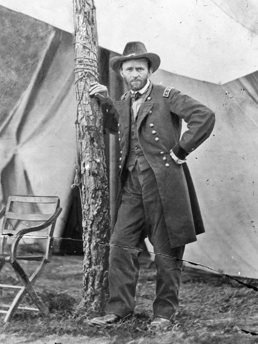 Ulysses S. Grant at his City Point, VA headquarters. June, 1864.