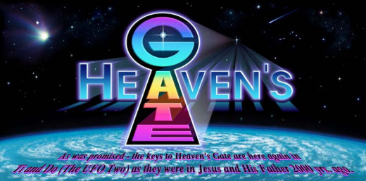 The image at the top of the heaven's gate website. Notice the low resolution. Terrifying!