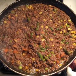 Ground Beef and Mixed Vegetable Curry