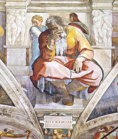 Jeremiah, Sistine Chapel