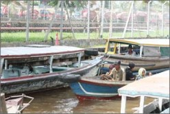 River taxis in Kalimantan