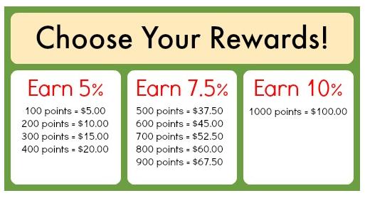 Diaper Junction Reward Levels