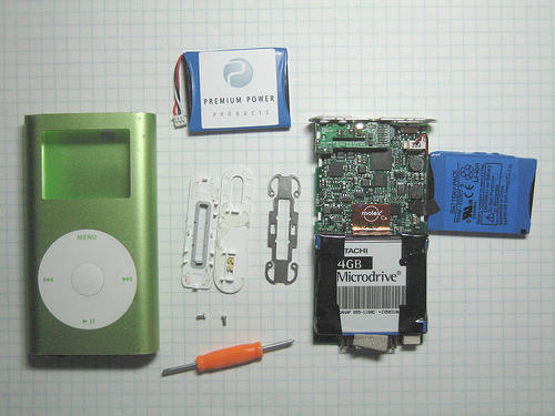 Ipod Battery Replacement Kit. photo from flickr