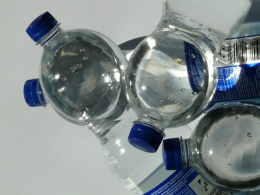 Take some fresh water with you as you evacuate from a hurricane.