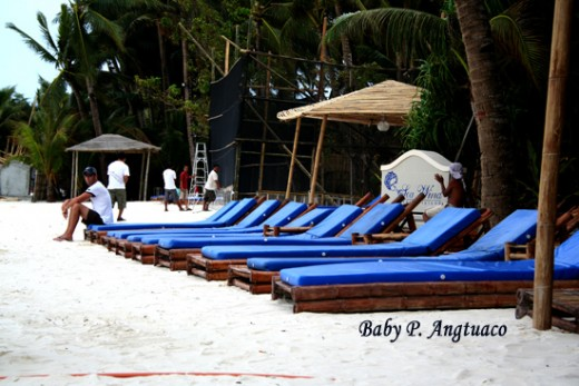 a beachfront hotel