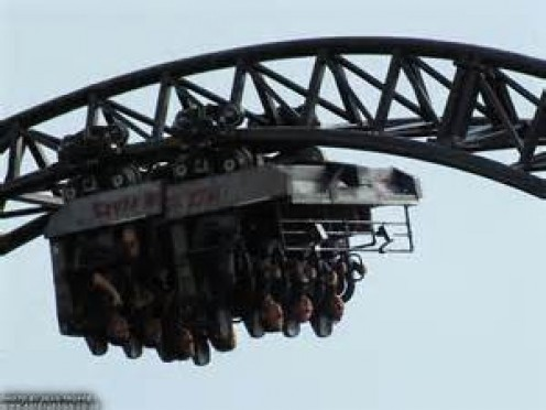 Saw is the first and only coaster to be based off of a horror film.