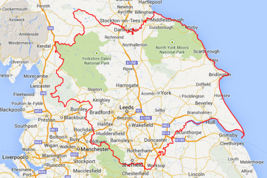 Yorkshire now, the boundaries changed in 1974 after political shenanigins in Whitehall