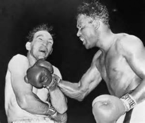 Gene Fullmer and Sugar Ray Robinson duked it out on four different occasions in the middleweight division.