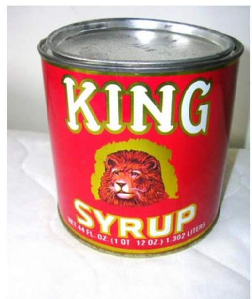 My mother rarely allowed us to use this syrup straight from the can.  It had to be cut with water and boiled to make a hot syrup.