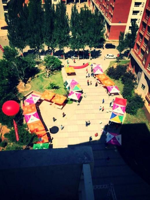 Aerial view of the cultural fiesta II