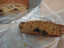 Zucchini Bread with Walnuts and Raisins