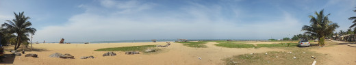 180 degree view of beach