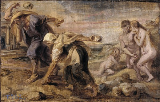 Deucalion and Pyrrha - Peter Paul Rubens (1577–1640)  - PD-art-100