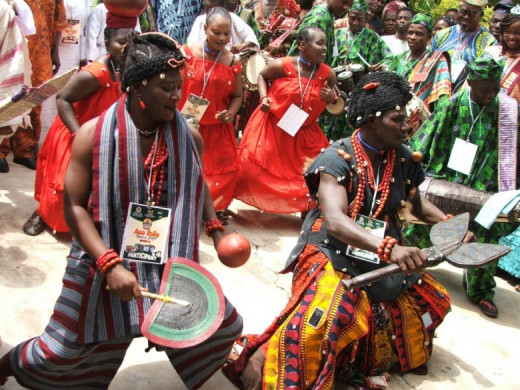 Dancers at the Sango festival