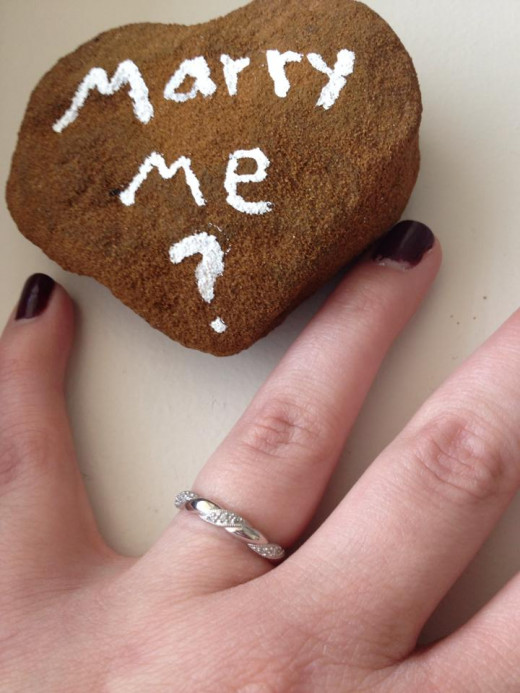 This is how my fiance proposed to me.