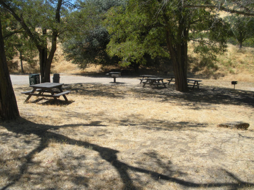 Picnic areas can accommodate either larger or smaller groups