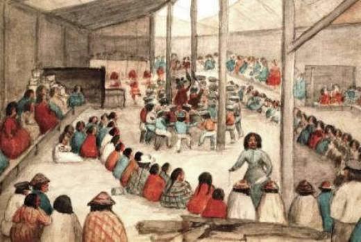 Potlatch Ceremony - Distribution of Gifts