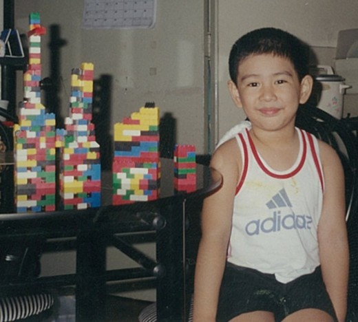 Joseph with his LEGO skyscrapers