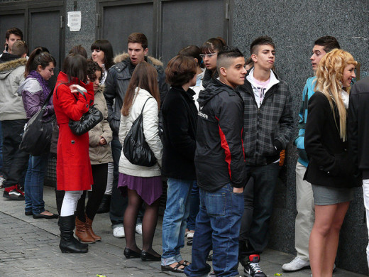 Teenagers attending a gathering.