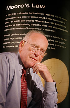 Gordon Moore, creator of Moore's Law, co-founder and chairman of Intel, bald man extraordinaire.